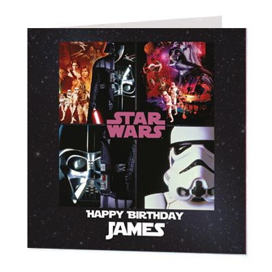 Star Wars Luxury Personalised Card