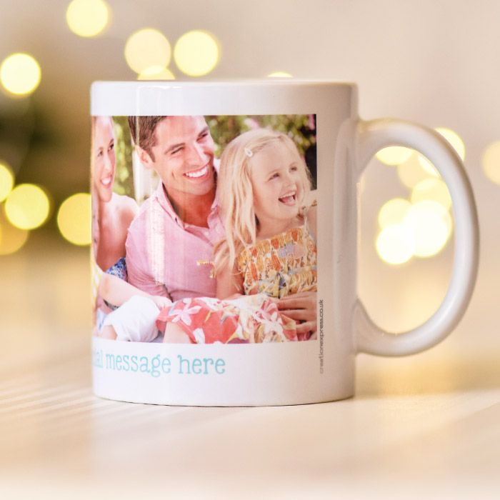Text With Two Photo Uploads - Mug