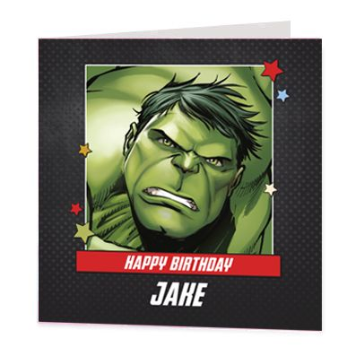 The Hulk Luxury Personalised Card