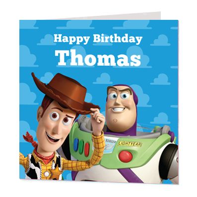 Toy Story Luxury Personalised Card