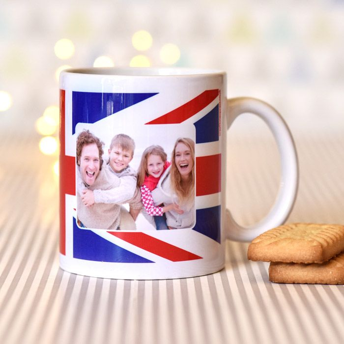 Union Jack With Photo Upload - Mug