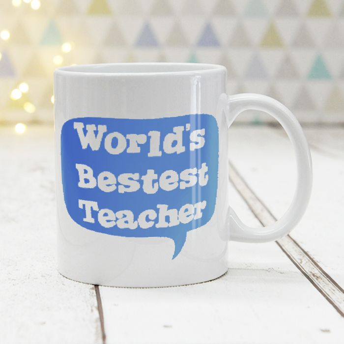 World's Bestest Teacher Blue - Mug
