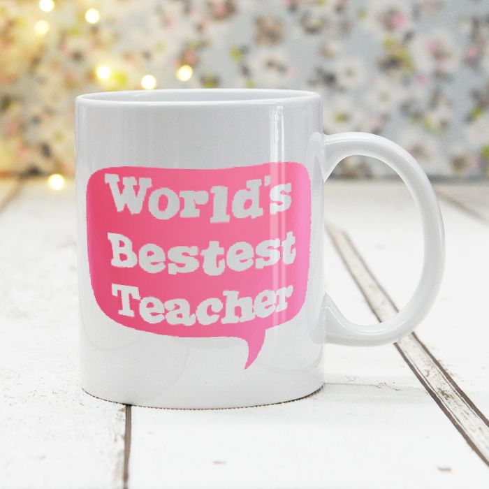 World's Bestest Teacher Pink - Mug